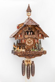 Black Forest Cuckoo Clock - Chalet Style - Musical Grande ***