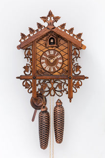 "Original Hand carved Black Forest Cuckoo Clock ""Bahnhäusle"" - Cuckoos Nest"