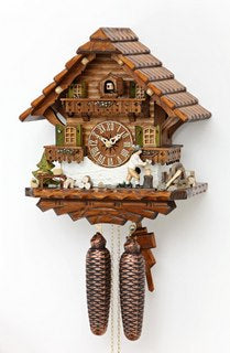 Black Forest Cuckoo Clock - Chalet Style - Woodchopper