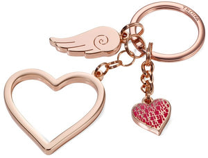 Keyring with 3 charms LOVE IS IN THE AIR - Cuckoos Nest