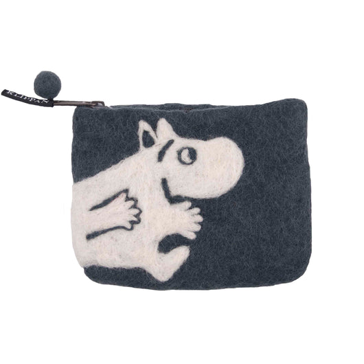 Felted purse Moomin grey - Cuckoos Nest