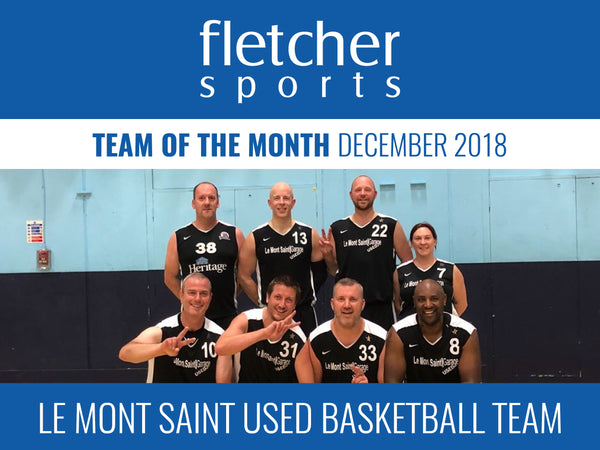 Team of the month for December - Le Mont Saint Used Basketball team