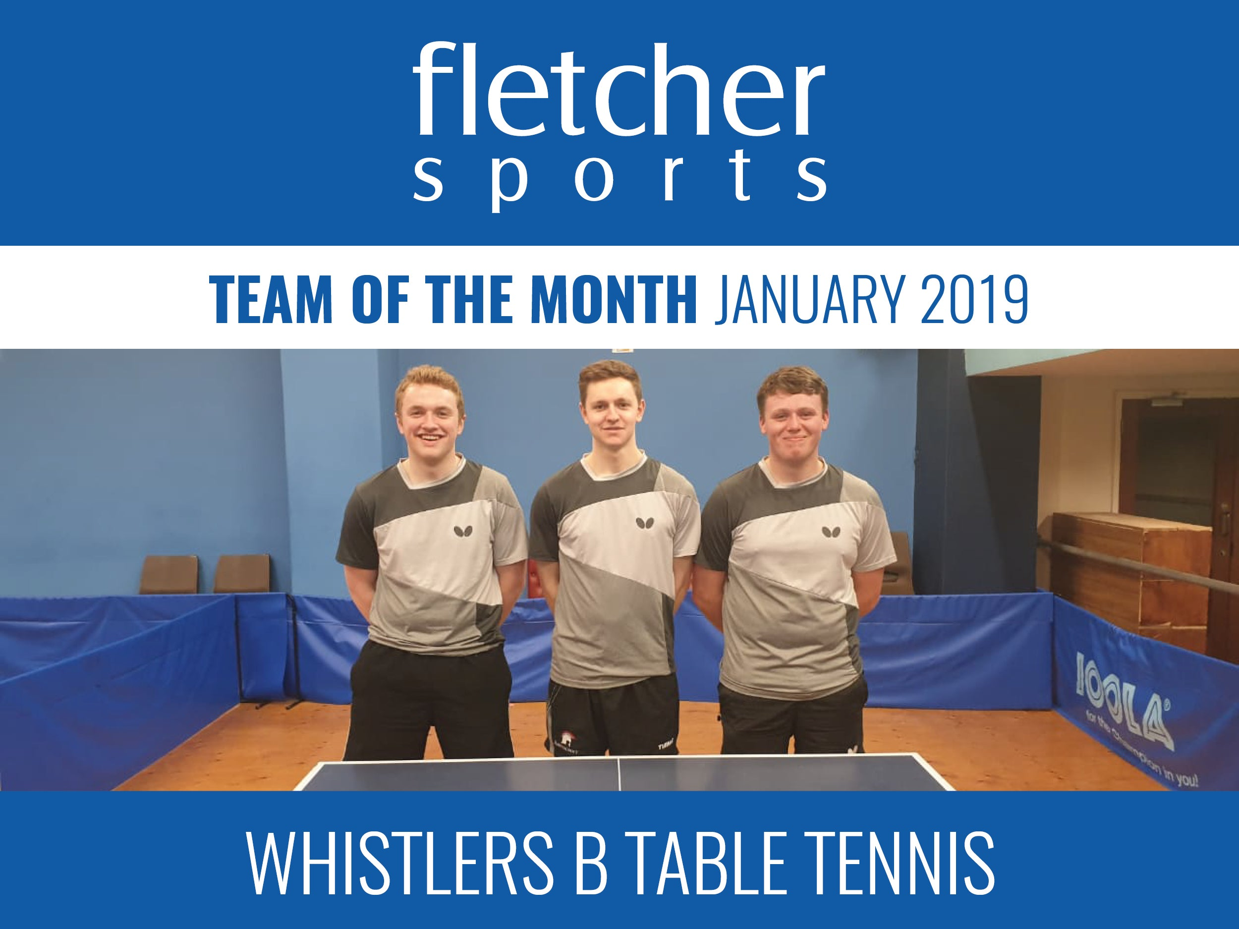 Team of the Month for January - Whistlers B table tennis