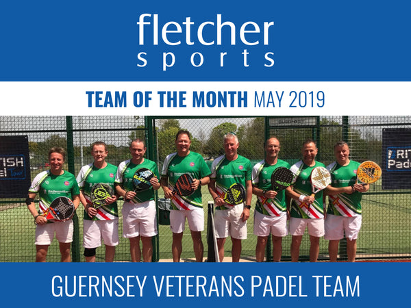 Team of the Month for May - Guernsey Vets Padel Team