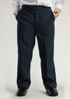 Navy Elastic Back Classic Fit Trouser