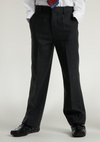 Black Elastic Back Slim Fit Trouser