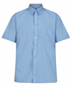Short Sleeve Easycare Polycotton Blue Shirts