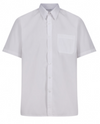 Short Sleeve Easycare Polycotton White Shirts