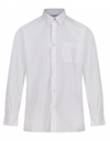 Long Sleeve Polycotton Easycare White Shirts