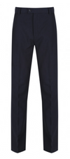 Flat Front Navy Trousers