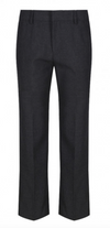 Grey Elastic Back Slim Fit Trouser