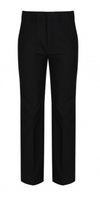 Charcoal Elastic Back Classic Fit Trouser