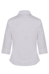 Rever Color 3/4 Sleeve White Blouse