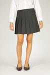 Stitch Down Pleat Skirt Grey