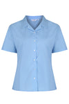Blue Short Sleeve Rever Easycare School Blouse