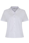 Short Sleeve Rever Collar White Blouses