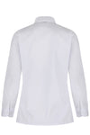 Long Sleeve Rever Collar White Blouses