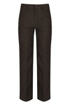 Brown Elastic Back Classic Fit Trouser