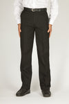 Flat Front Black Trousers