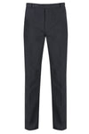 Flat Front Grey Trousers