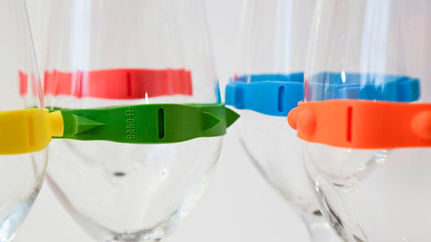 closeup-drinking-glasses-5-different-bands