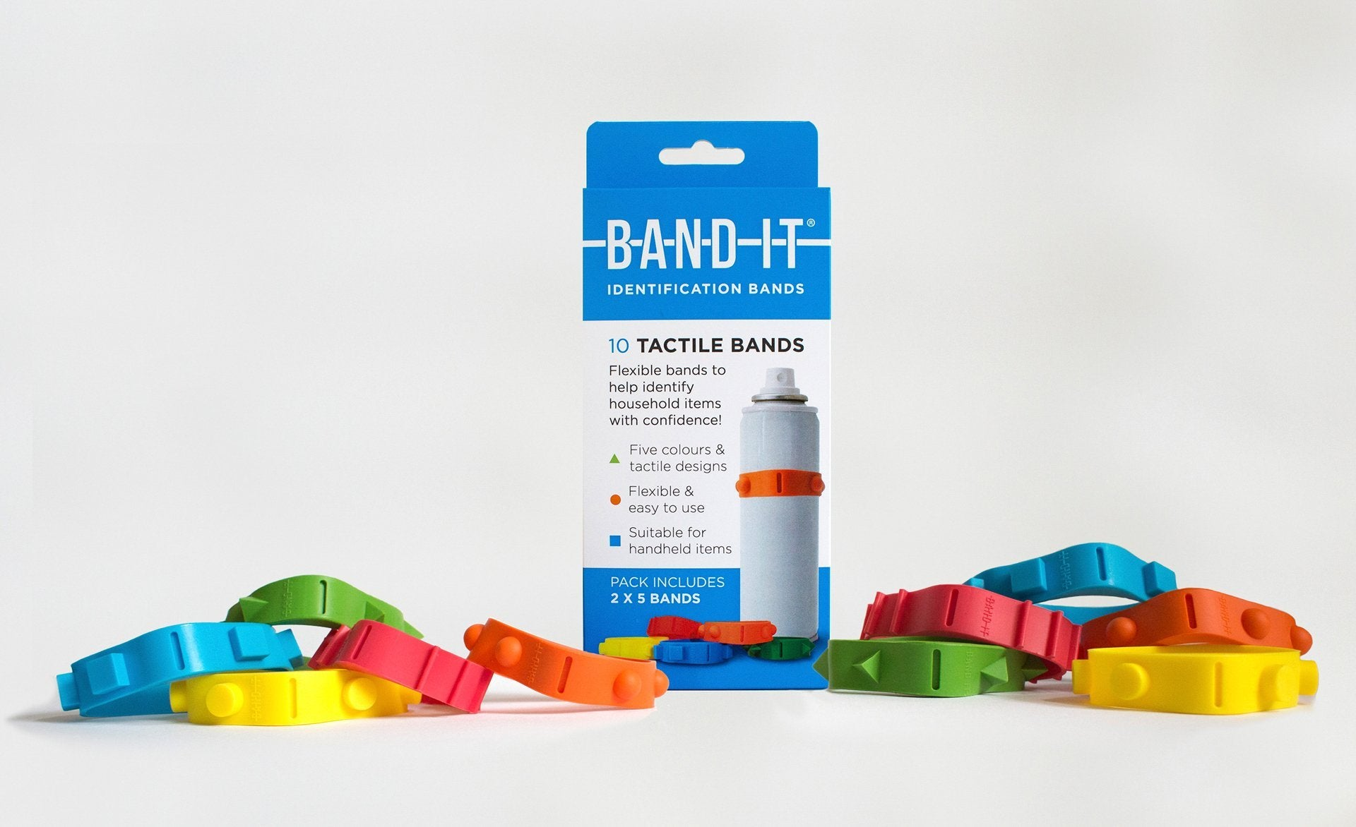 ten band-its with packaging box