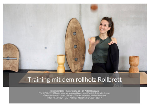 Training mit dem rollholz Rollbrett ebook
