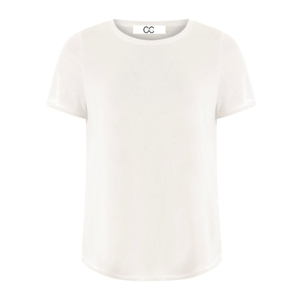CC Heart CC Heart tencel t-shirt Top - Short sleeve White - 200