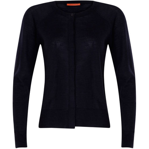 Coster Copenhagen Round neck knit cardigan merino (Basic) Knitwear Navy - 563