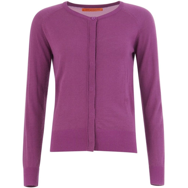 Coster Copenhagen Round neck knit cardigan merino (Basic) Knitwear Pink Lilac - 816