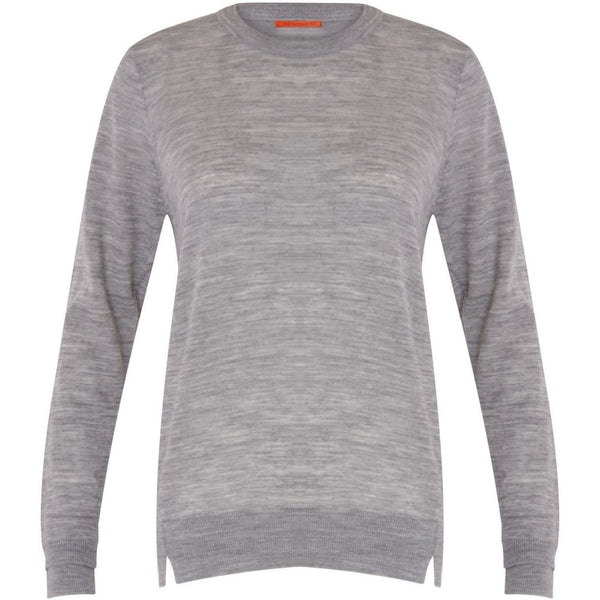 Coster Copenhagen Round neck knit top merino (Basic) Knitwear Light grey melange - 129