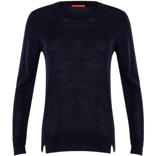 Coster Copenhagen Round neck knit top merino (Basic) Knitwear Navy - 563