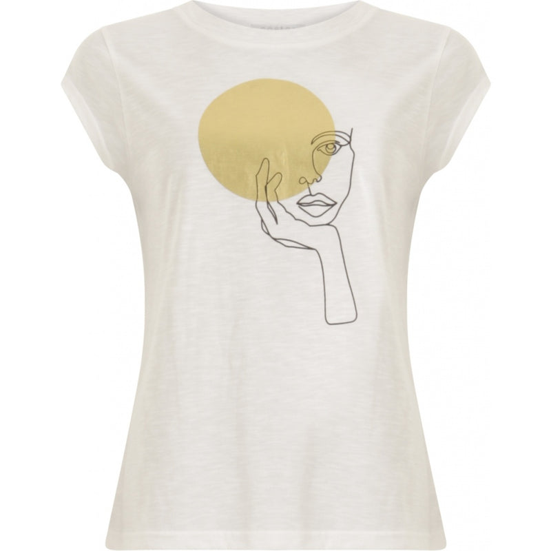 Coster Copenhagen T-shirt with lady circle Top - Short sleeve White - 200