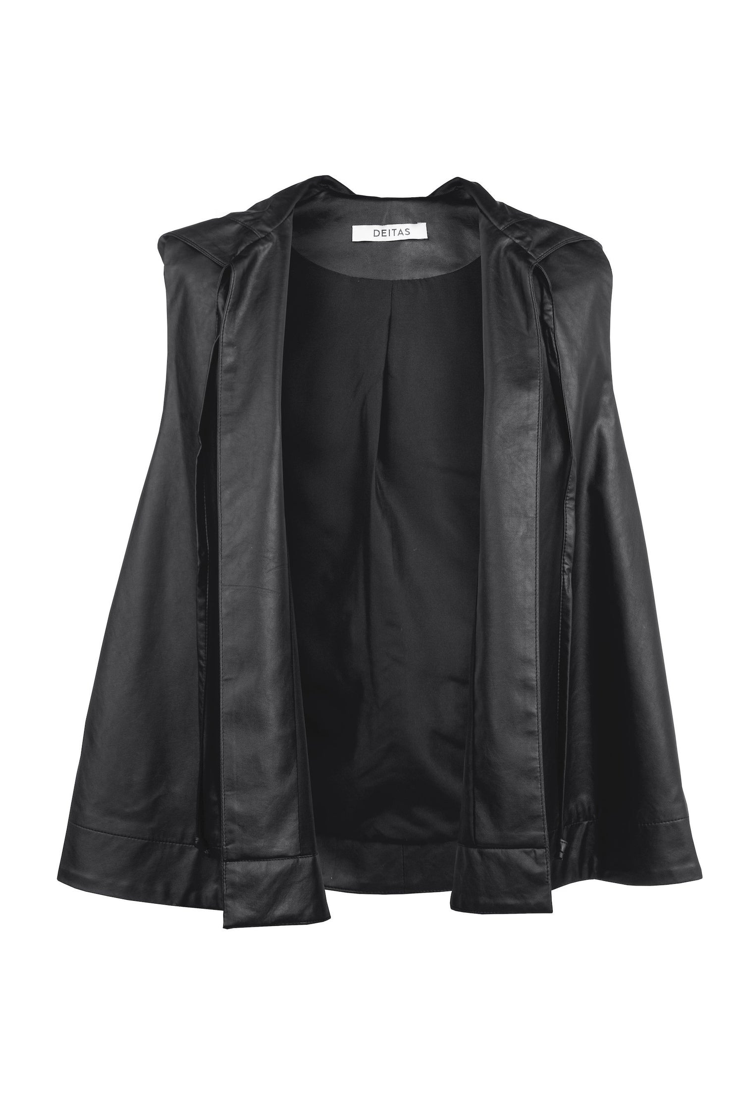 Veste Hoodie Vegan Leather Black Deitas Blouses