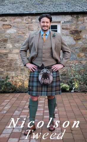 Nicolson Tweed Kilt Hire Outfit