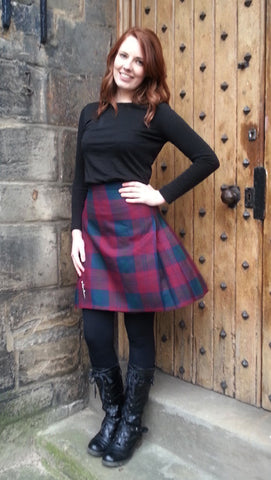 Ladies Kilted Skirt (up to 27inch length)