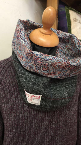 LoullyMakes Harris Tweed and Liberty Paisley Print Snood