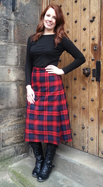 Ladies Hostess Kilted Skirt (over 27inch length)