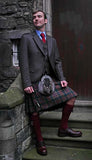 Brown Holyrood Tweed Hire Outfit