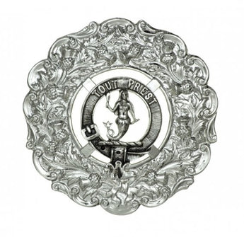Clan Crest Plaid Brooch