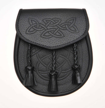 SP Leather Tooled Sporran