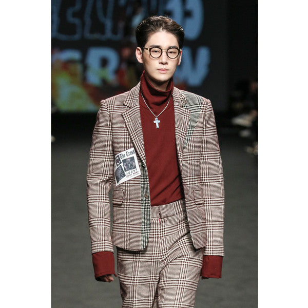[Kwakhyunjoo Collection]16 F/W WINE CHECK JACKET