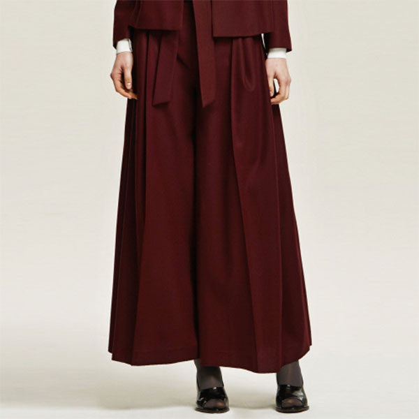 [Cahiers] Knotted Wide Leg Trouser