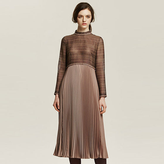 [Cahiers] See-Through Pleated Dress