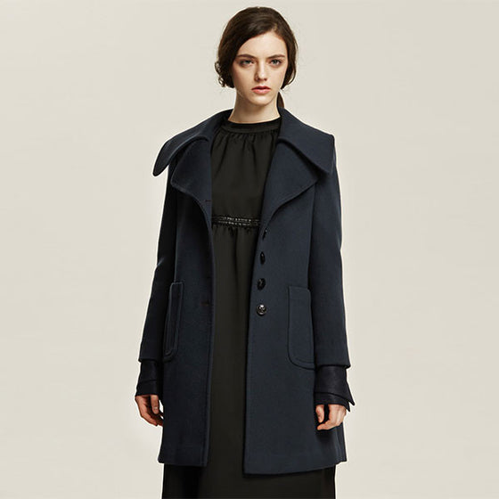 [Cahiers] Notched Collar Pocket Point Coat