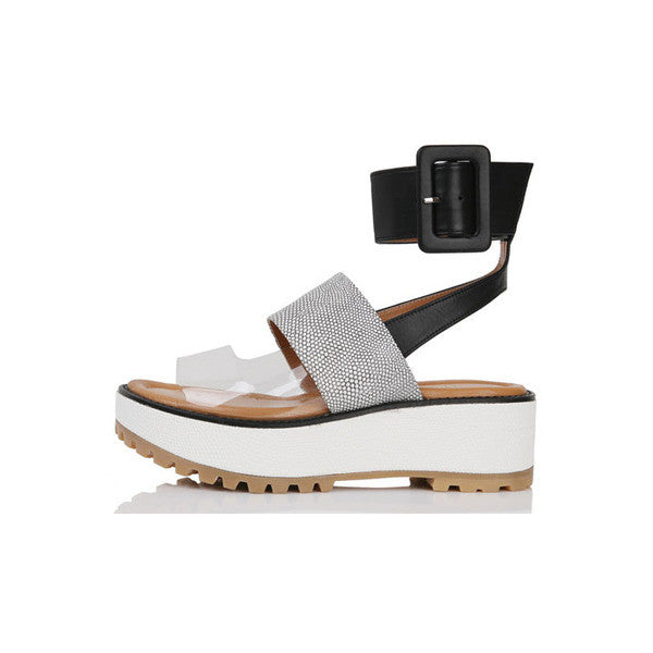 [YUUL YIE] 3 TYPE OF STRAP WEDGE SANDAL