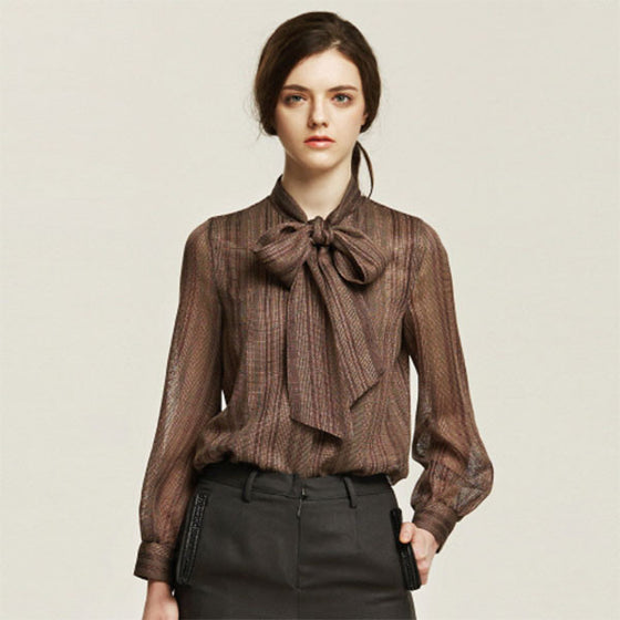 [Cahiers] See-Through Ribbon Blouse