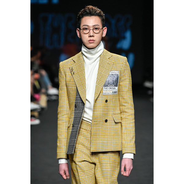 [KWAKHYUNJOO COLLECTION]16 F/W MUSTARD CHECK JACKET