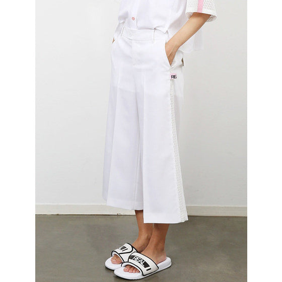 [CRES. E DIM.] 'REAL'SIDE MESH PANTS(WHITE)