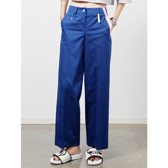 [CRES. E DIM.] REAL WIDE PANTS (NAVY)
